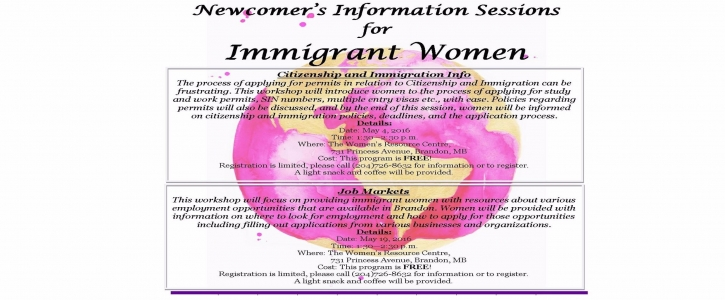 Newcomer Info Session – May Poster for Web